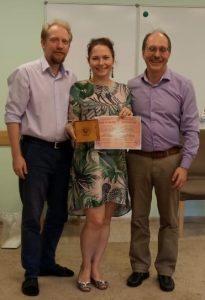 На вручении диплома и сертификата расстановщика в ИКСР, с М. Бурняшевым и А. Механтьевым